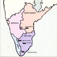 MAP - SOUTH INDIA